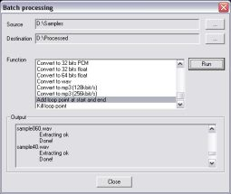 File batch process in Wavosaur