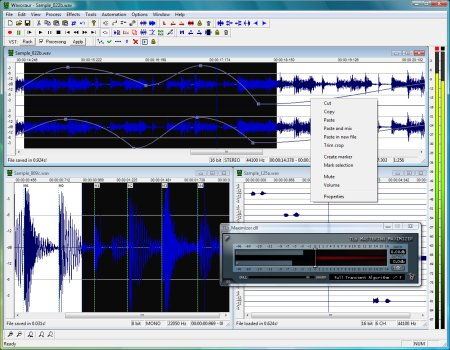 Freeware sound editor - Wavosaur
