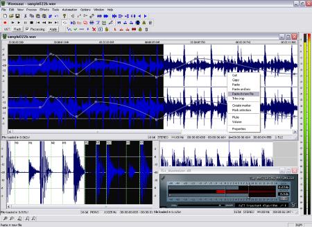 freeware sound editor - Wavosaur