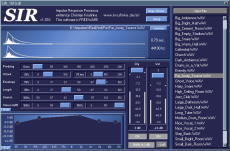 SIR reverb VST GUI