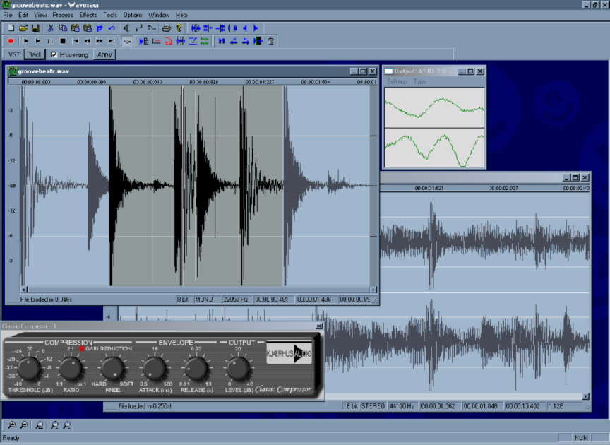 Free sound editing software.