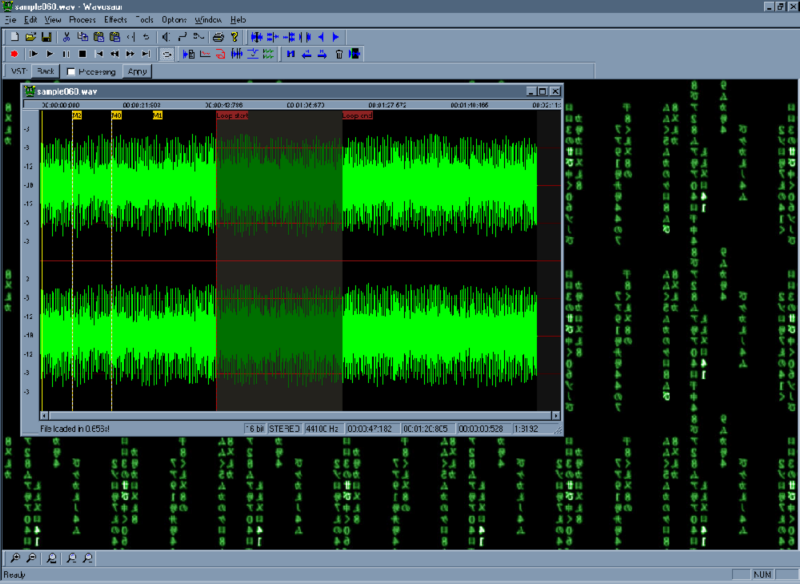 Screenshot of Wavosaur audio editor 1.0.9.0